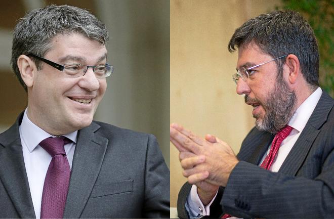 Álvaro Nadal (i), ministro de Energía, Turismo y Agenda Digital, y Alberto Nadal (d), Secretario de Estado de Energía.