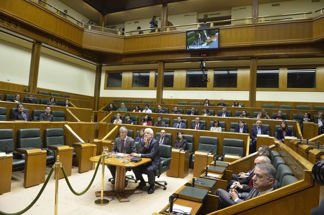 Pleno del parlamento vasco.