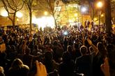 Manifestación pacífica en una plaza de Portland, en el estado de...