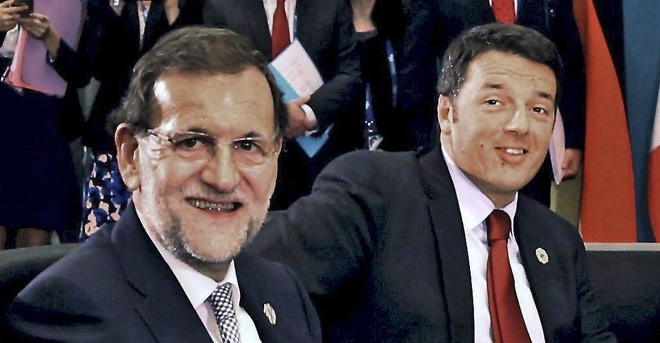 Rajoy y Renzi, en la cumbre del G20 de Brisbane (Australia), en 2014.