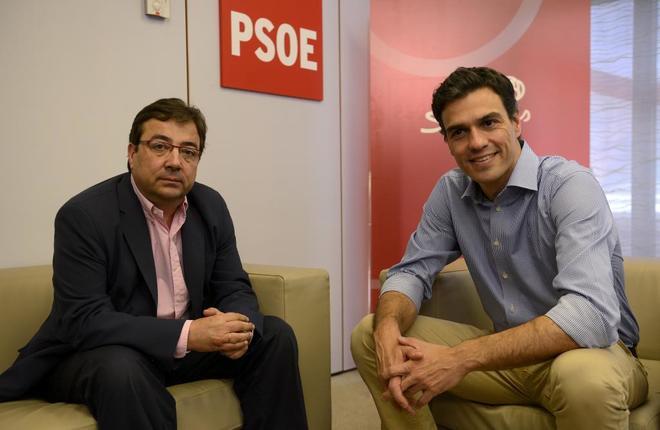 Pedro Sánchez reunido en julio de 2014 con el secretario general del...