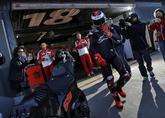 Jorge Lorenzo sale del box de Ducati en el Circuito Ricardo Tormo de...