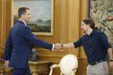 El Rey recibe a Pablo Iglesias en el Palacio de la Zarzuela el pasado...