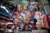 Revistas chinas, en un quiosco de Shanghai.