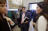 Aitor Esteban, portavoz del PNV, a su llegada al Congreso de los...