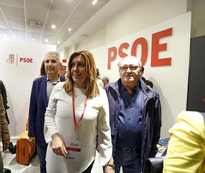 Susana Díaz en la reunión del Comité Federal del PSOE en Ferraz del...