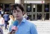 El 'pequeño Nicolás', en los juzgados de Plaza de Castilla, en...