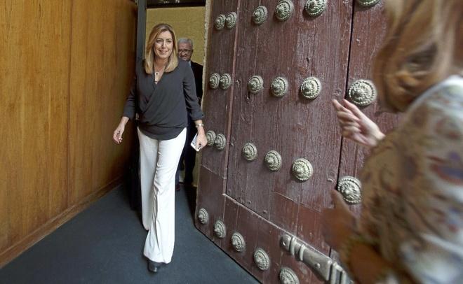La presidenta de la Junta de Andalucía, Susana Díaz, en el...