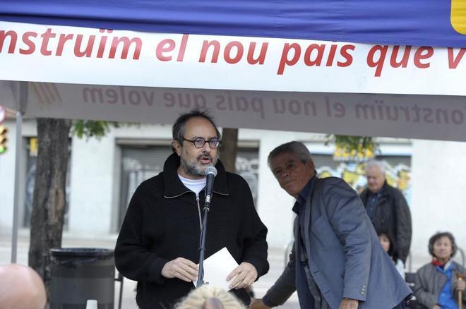 El ex diputado de la CUP y miembro de Súmate, Antoni Baños, con el ex presidente de Súmate y diputado de Junts Pel Sí, Eduardo Reyes.