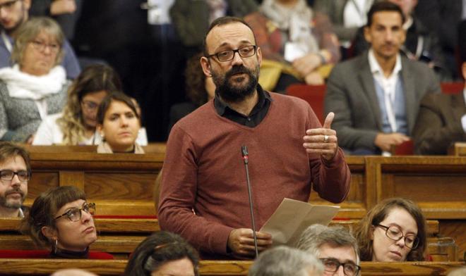 Bernet Salellas de la CUP en el pleno de control al govern