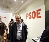 César Luena, ex secretario de Organización, en la sede de Ferraz.