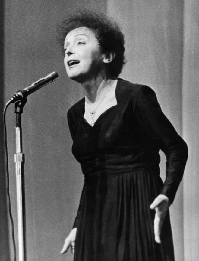 La cantante Édith Piaf.
