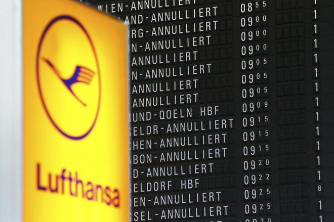 La huelga de los  pilotos de Lufthansa afectará a cerca de 100.000 pasajeros