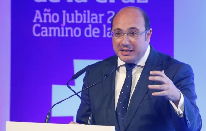 El presidente de Murcia,Pedro Antonio Sánchez, en una imagen de esta...