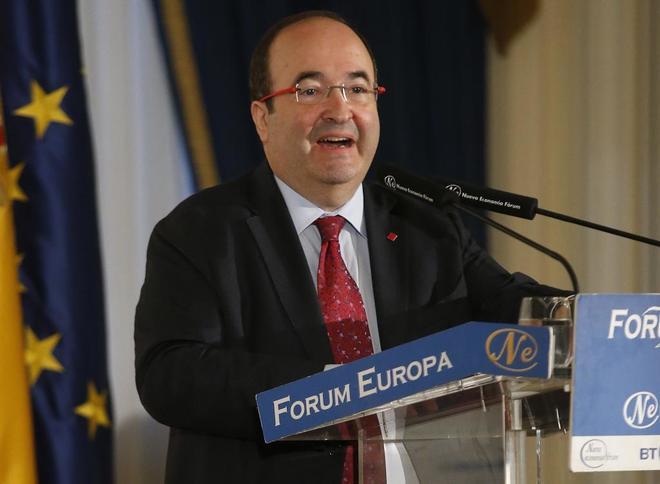 Miquel Iceta, durante su intervención en  Fórum Europa.