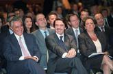Javier Arenas, José María Aznar y Rita Barberá, en un acto sobre...