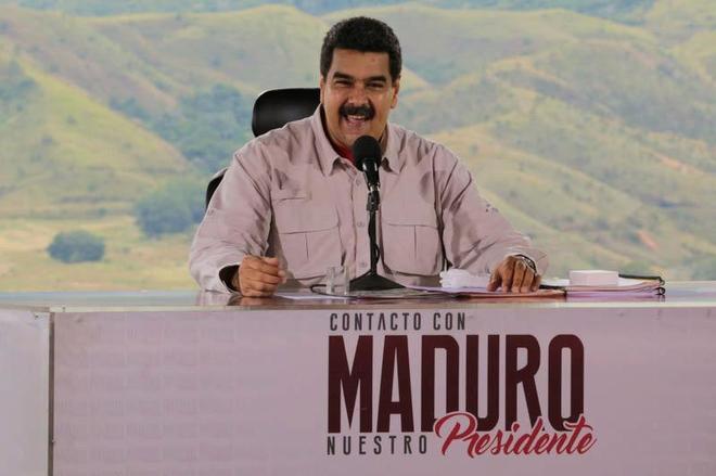 Nicolás Maduro, en su programa televisivo 'En contacto con Maduro'.