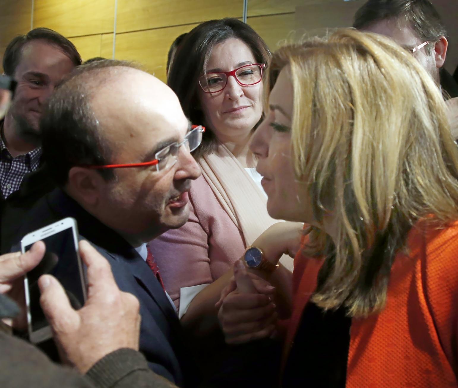 El primer secretario de los socialistas catalanes, Miquel Iceta, se...