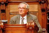 El ex alcalde de Barcelona Xavier Trias, durante una sesión en el...