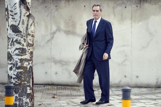 El ex presidente de Caja Madrid, Jaime Terceiro, tras declarar, el...