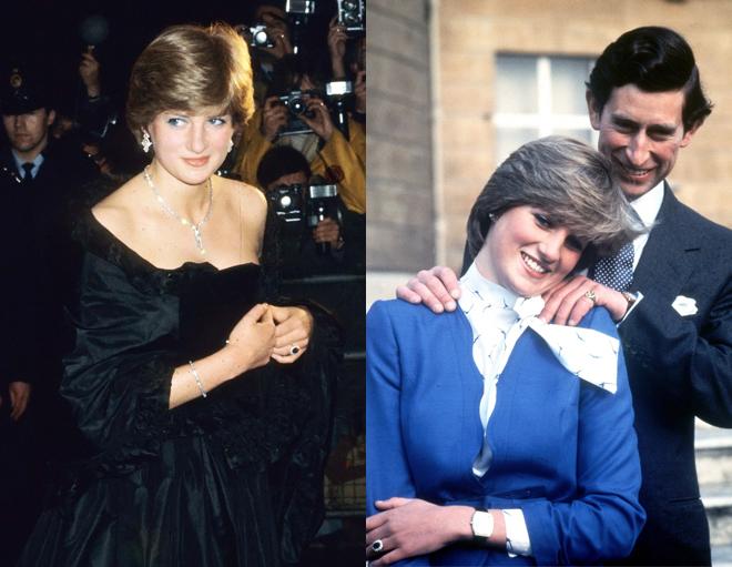 Lady Di en diferentes actos durante la década de los 80.