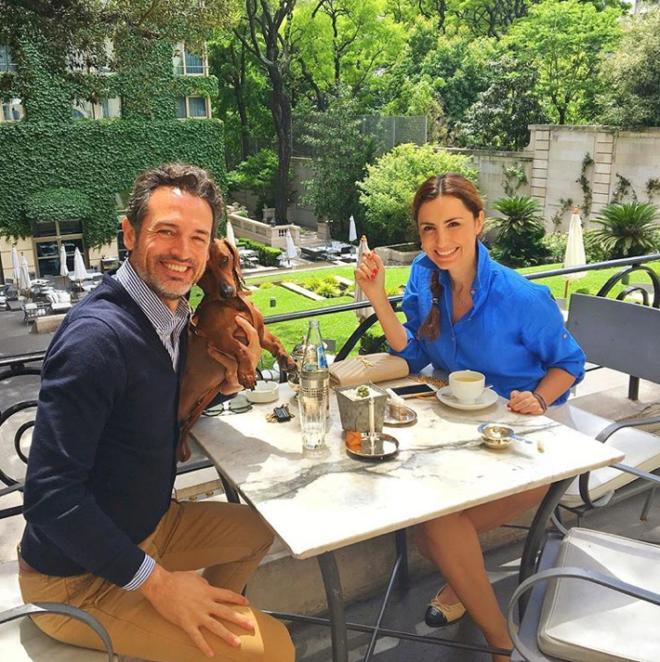 Tomando el té en el Hotel Palacio Duhau en Buenos Aires con Christian...
