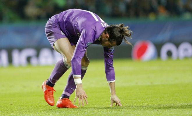 Bale, en la acción donde cayó lesionado en el tobillo derecho.