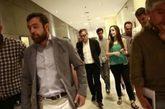 Diputados de Ciudadanos, durante una de las reuniones con el PP para...