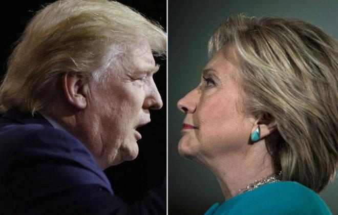 El presidente electo Donald Trump y su rival en las pasadas...
