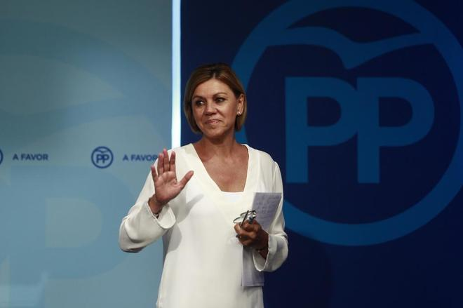 María Dolores de Cospedal, secretaría general del PP y ministra de...