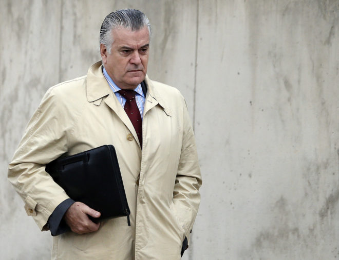 Luis Bárcenas, al llegar a una de las sesiones del juicio por el...