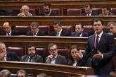 El líder de Ciudadanos, Albert Rivera, durante una intervención en...