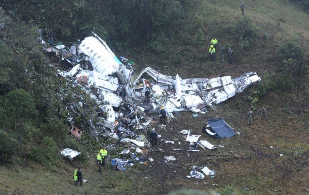 Imagen del avión siniestrado en las inmediaciones del cerro El Gordo,...