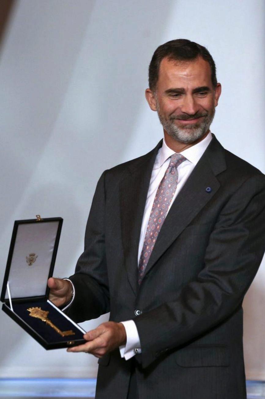 Felipe VI recibe la llave de la ciudad de Lisboa