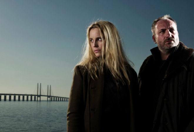 Los protagonistas de la coproducción suecodanesa 'Bron/Broen', que en...