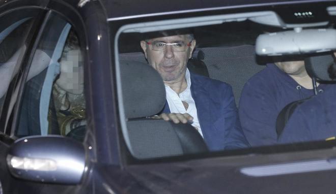 Francisco Granados, a su salida, esta noche, del juzgado de...
