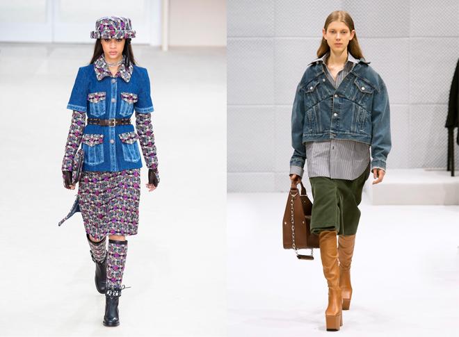 Propuestas con toques 'denim' de Chanel y Balenciaga para la temporada...
