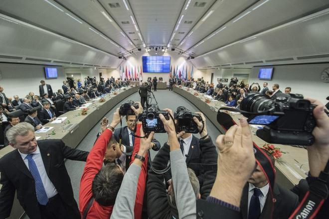 Vista de la reunión formal de ministros de petróleo de la OPEP