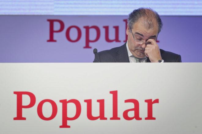 El presidente del Popular, Ángel Ron, durante una Junta de Accionistas.