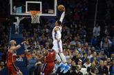 Russell Westbrook logró su cuarto 'triple-doble' consecutivo y el...