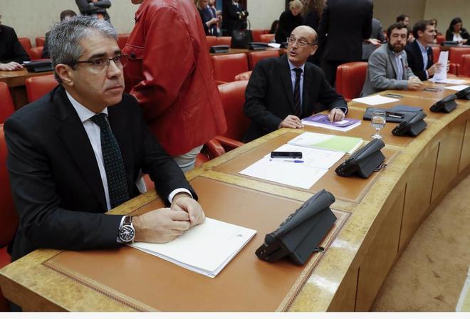 Francesc Homs, en la Comisión Constitucional del Congreso de los DIputados.