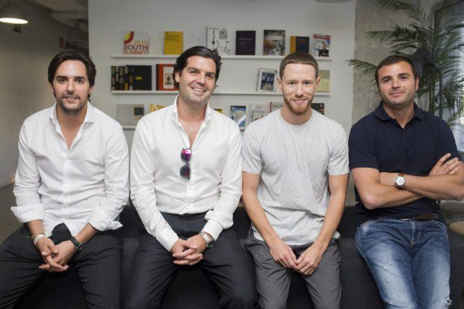 94bb0e0671 Cuatro de los ocho artífices que han posibilitado la inyección de capital.  De izquierda a derecha, Hugo Arévalo, Alejandro Betancourt, Francisco Pérez  y ...