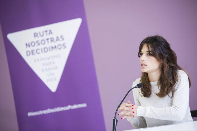 Clara Serra, responsable estatal de Igualdad de Podemos, ayer, en...