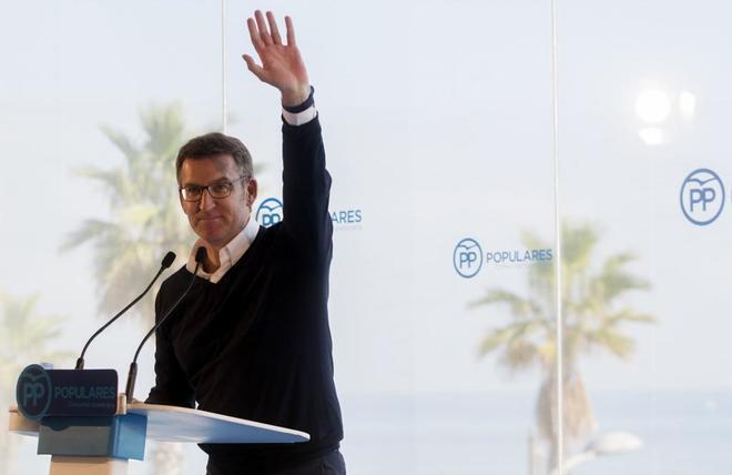 El presidente de la Xunta de Galicia, Alberto Nuñez Feijóo en un...