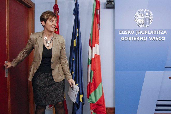 Arantxa Tapia antes de una comparecencia de prensa en la legislatura anterior.
