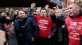 Pablo Iglesias, el pasado viernes, en la manifestación de los...
