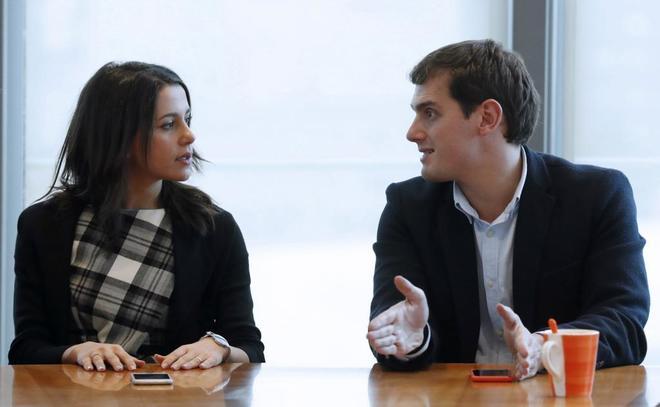 Inés Arrimadas y Albert Rivera, en la reunión de la Ejecutiva...