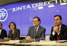 María Dolores de Cospedal, Mariano Rajoy y Fernando Martínez-Maíllo...