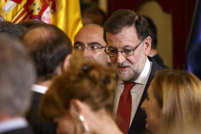 Mariano Rajoy, ayer, en los actos conmemorativos del Día de la...
