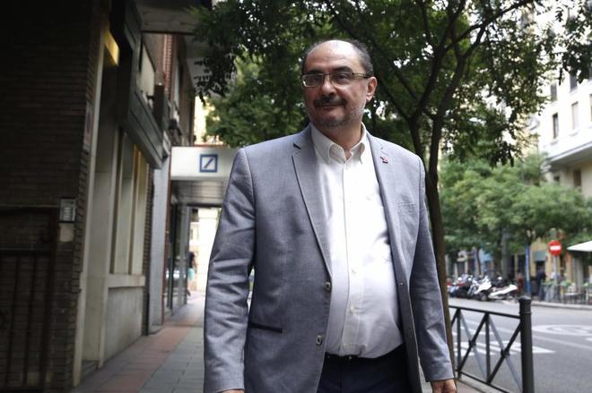 Javier Lamban en la sede del PSOE de Madrid, el pasado mes de julio.